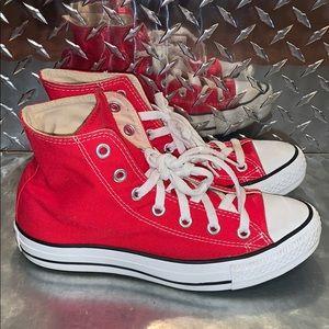 Red Converse Allstars High Women's 7, Men's 5